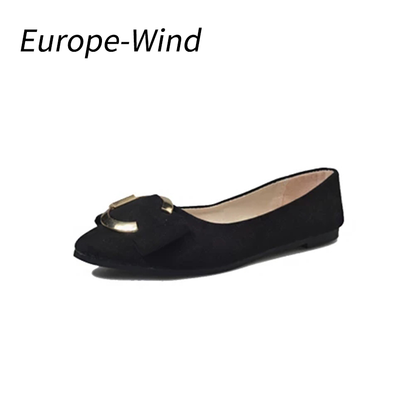 EuropeWind 2018 New Fashion Party Shoes Women Solid Candy Patent Flock Tip Shoes Women Flats Ballet Casual Shoes Princess Shoes princess poppy ballet shoes