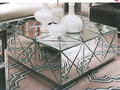MR-401029 modern beveled mirrored  coffee table