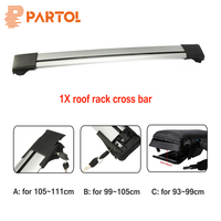 Partol 1x Car Roof Rack Crossbar Roof Luggage Carrier Roof Rail Snowbord Bike Rack Anti Theft
