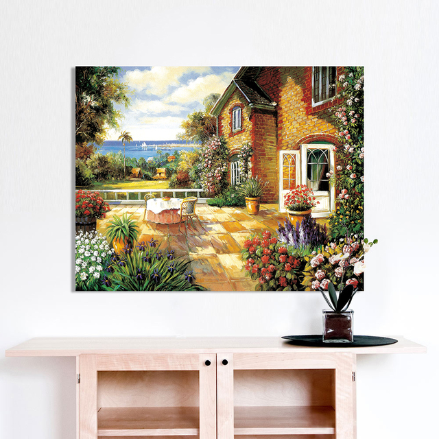 HDARTISAN Wall Art Picture Canvas Print oil painting landscape of ...