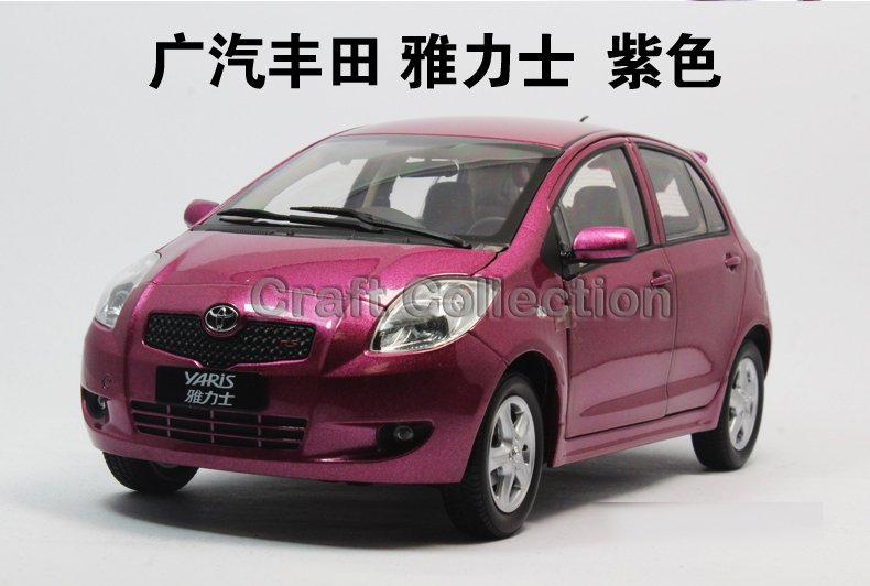 ФОТО 1:18 Toyota Yaris 2008 Diecast Model Car Miniature Vehicle Automobile