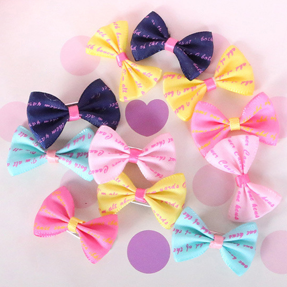 1 Pc Pet Grooming Bows Small Dog Hair Accessories Grooming Hair Bows With Clips Puppy Hair Ties Headdress Drop Shipping