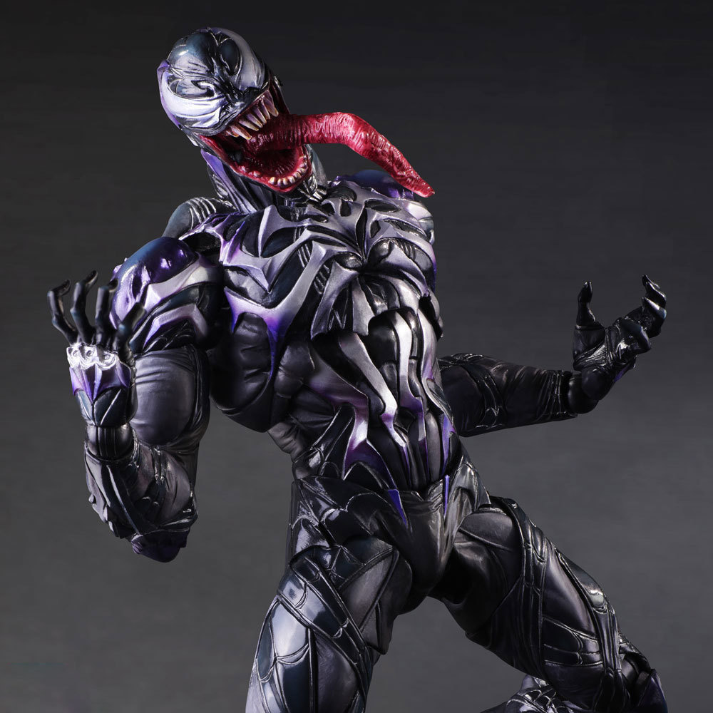 Venom 1pcs 28cm The Amazing Spiderman Play Arts Kai Action Figure Marvel Collection Model Dolls Kids Toys 1201 model fans spider man action figure venom spride collection model toys play arts kai amazing spiderman play arts venom