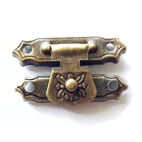 ღ ღ50 unids 16*27mm cerradura de bronce Cerrojos agraffe hebilla ...