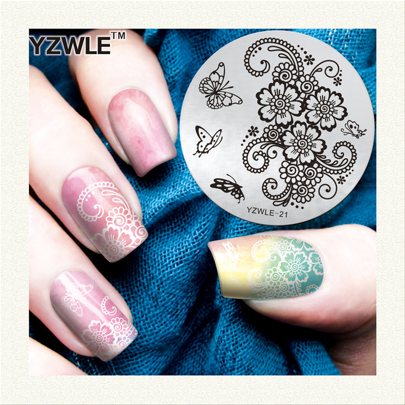 Fashion week 21 stencils nail examples for girls