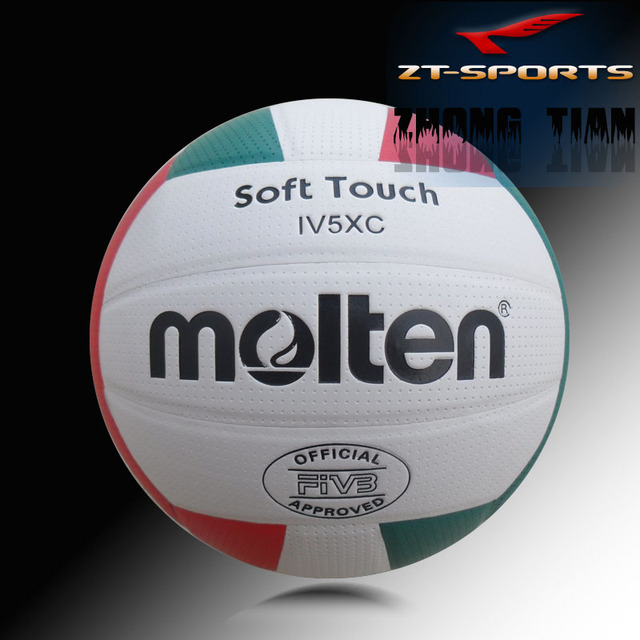 Free shipping   offical Size 5  Molten volleyball soft touch PU material laminated machine stitched high quality