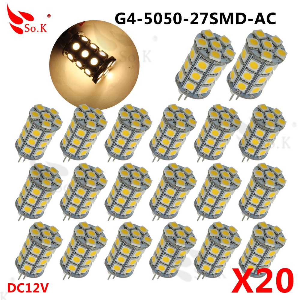 20 pcs G4 LED Lamp 3W AC DC 12V 3014/5050 SMD Replace 20W Halogen Candle Light Bulb 360 degree chandelier lighting G4 5050 led 5x g4 ac dc 12v led bulb lamp smd 1505 3014 2835 2w 3w 4w replace halogen lamp light 360 beam angle luz lampada led