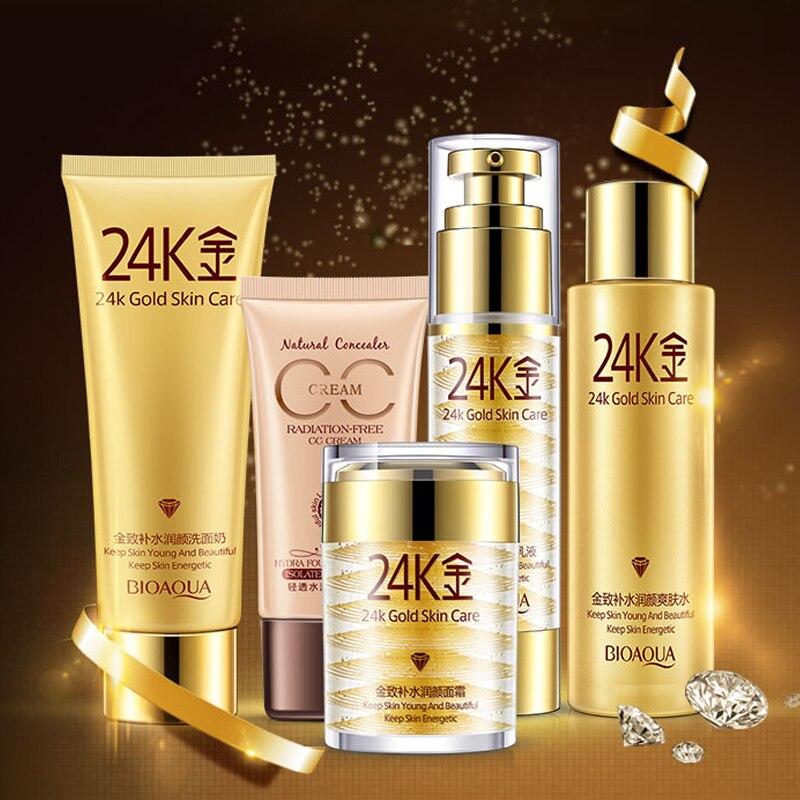 Makeup And Skin Care: Beauty 24K Golden Skin Care Beauty Makeup Cosmetics Set