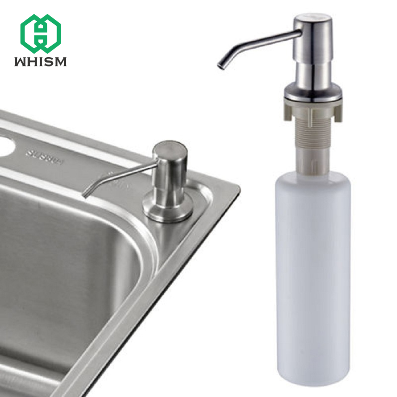 Us 7 28 30 Off Whism Stainless Steel Liquid Soap Dispenser Kitchen Sink Box Lotion Cleaner Holder Plastic Bottle Shampoo In Portable