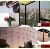 SUNICE VLT8% Brown Shading Window Film One Way Mirrored Window Foils UV Proof Solar Tint Film House Decoration 1.52x20mWholesale