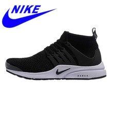63e11c1cb9bc9 Nike Presto Flyknit Men s and Women s Running Shoes Black Breathable  Non-slip Sports