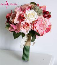 2017 Bride Flower bruidsboeket Wedding Bouquets Colorful Bridesmaids Bouquet High Simulation Wedding Flowers Bouquet Mariage