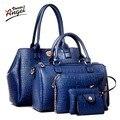Ángel Voces 2016 Nuevo 5 unids conjunto famosa marca bolsos de las mujeres diseñador de las mujeres de la PU conjunto de bolsas de buena calidad del bolso de hombro bolsas de las mujeres LS360