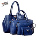 Ангел Голоса 2016 Новый 5 шт. женщин сумки набор известный бренд дизайнер ПУ женщины сумку набор хорошее качество плечо мешок женщин сумки LS360