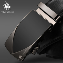 NO.ONEPAUL Men Belt High Quality Cow Genuine Leather Belts for New Arrival Automatic Buckle Male Strap Metal Cowhide