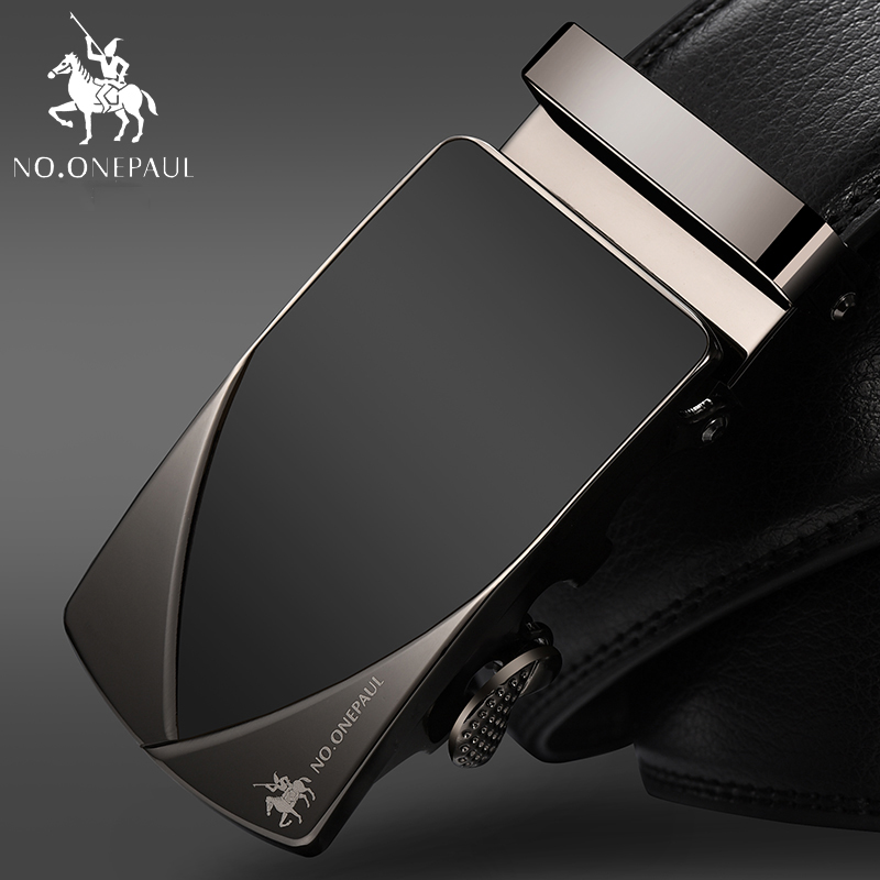 NO.ONEPAUL Men   Belt   High Quality Cow Genuine Leather   Belts   for Men New Arrival Automatic Buckle Male Strap Metal Buckle Cowhide
