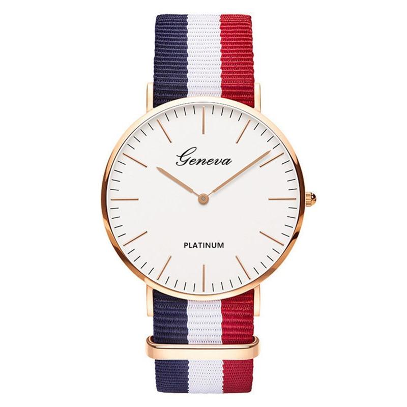 2019 Women Watch Hot Sale Nylon Strap Quartz Top Brand Watches Casual Fashion Ladies Wristwatch  Female Clock Montre Femme