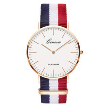 2019 Women Watch Hot Sale Nylon Strap Quartz Top Brand Watches Casual Fashion Ladies Wristwatch Female Clock montre femme(China)