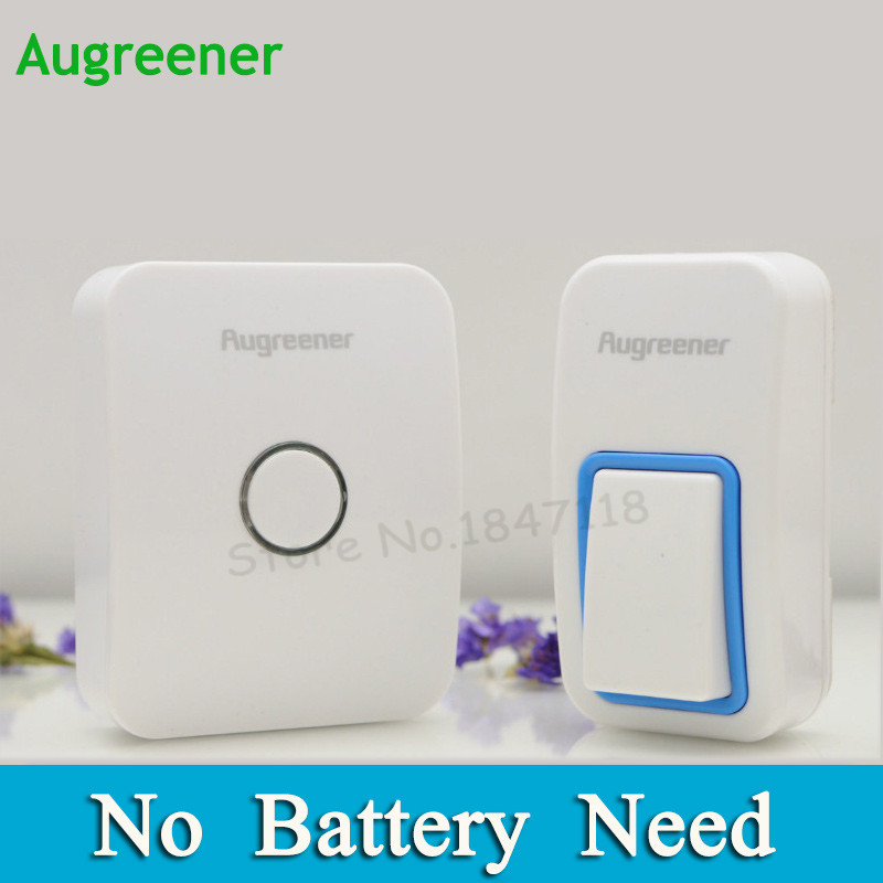 No Battery Need EU/US/UK Plug-in Wireless Doorbell Waterproof  Door Bell AC220V With 1 Doorbell Push Button +1 Indoor Receiver wireless service call bell system popular in restaurant ce passed 433 92mhz full equipment watch pager 1 watch 7 call button