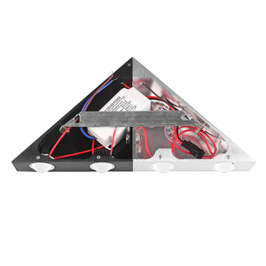 Image 4 - 5 w 알루미늄 삼각형 led 벽 램프 AC90 265V 높은 전원 led 현대 홈 조명 실내 야외 파티 공 디스코 빛