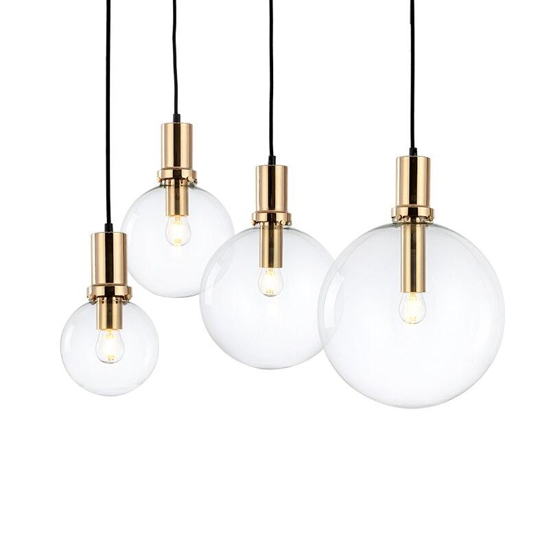 Art Designer moderne pendentif LED lumière noir or verre cuisine salle à manger suspension lampe barre de LED restaurant maison pendentif lumières