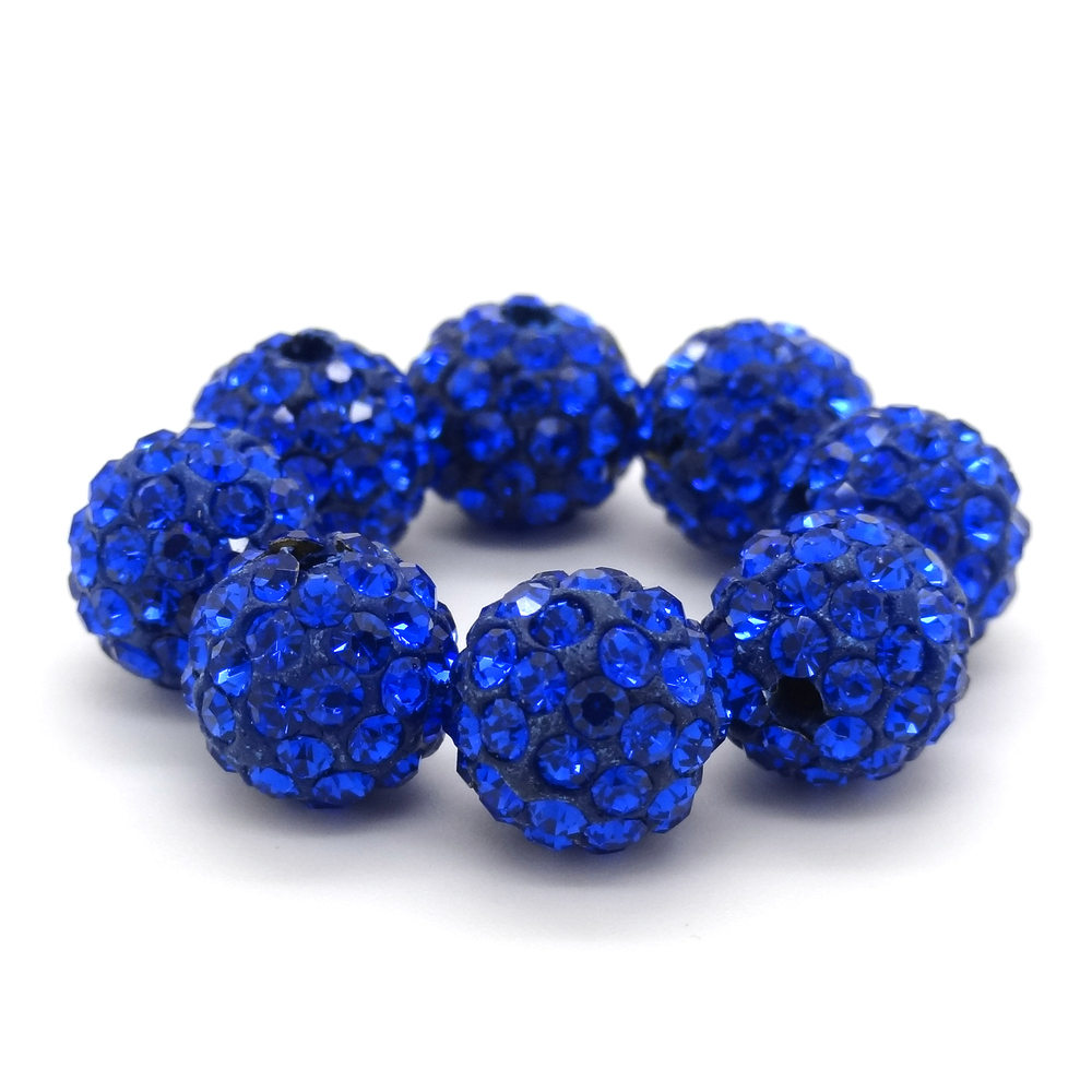 Beads & Jewelry Making Aggressive Wholesale,50pcs/lot,6mm 8mm 10mm 12mm Blue Clay Crystal Beads,pave Micro Cz Disco Ball,for Bracelets Making,free Shipping Beads