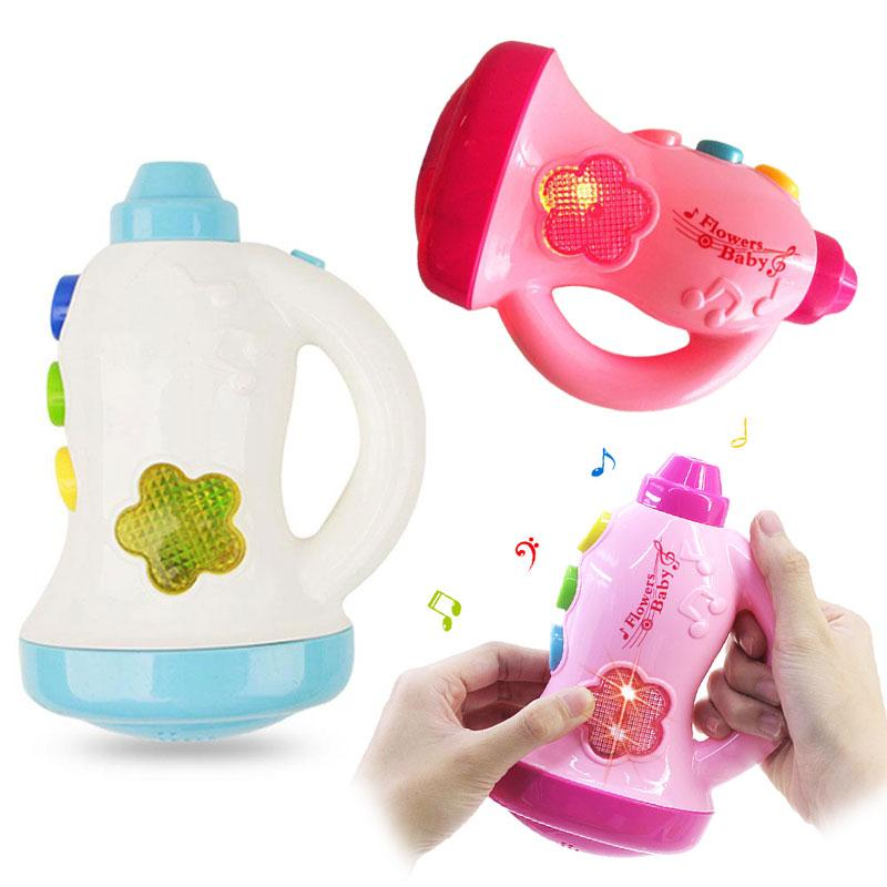 Cute Music Lighting Loudspeaker Toy Cartoon Flashing Horn Rattle Speaker Toy Developmental Educational Toys for Children