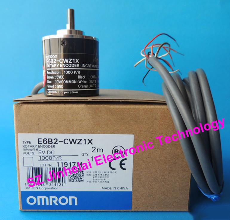 New and original OMRON Encoder E6B2-CWZ1X  2M  1000P/R  2000P/R new and original e3x da11 s omron optical fiber amplifier photoelectric switch 12 24vdc