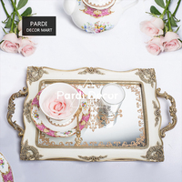 Retro vintage style Rectangle plate storage plate fruit cake tray tea tray Multi function plate 1pc/lot