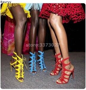 Летние модные женские босоножки из Желтой замши пикантные туфли-лодочки на шнуровке женские модельные туфли на тонком каблуке с узкими лен...
