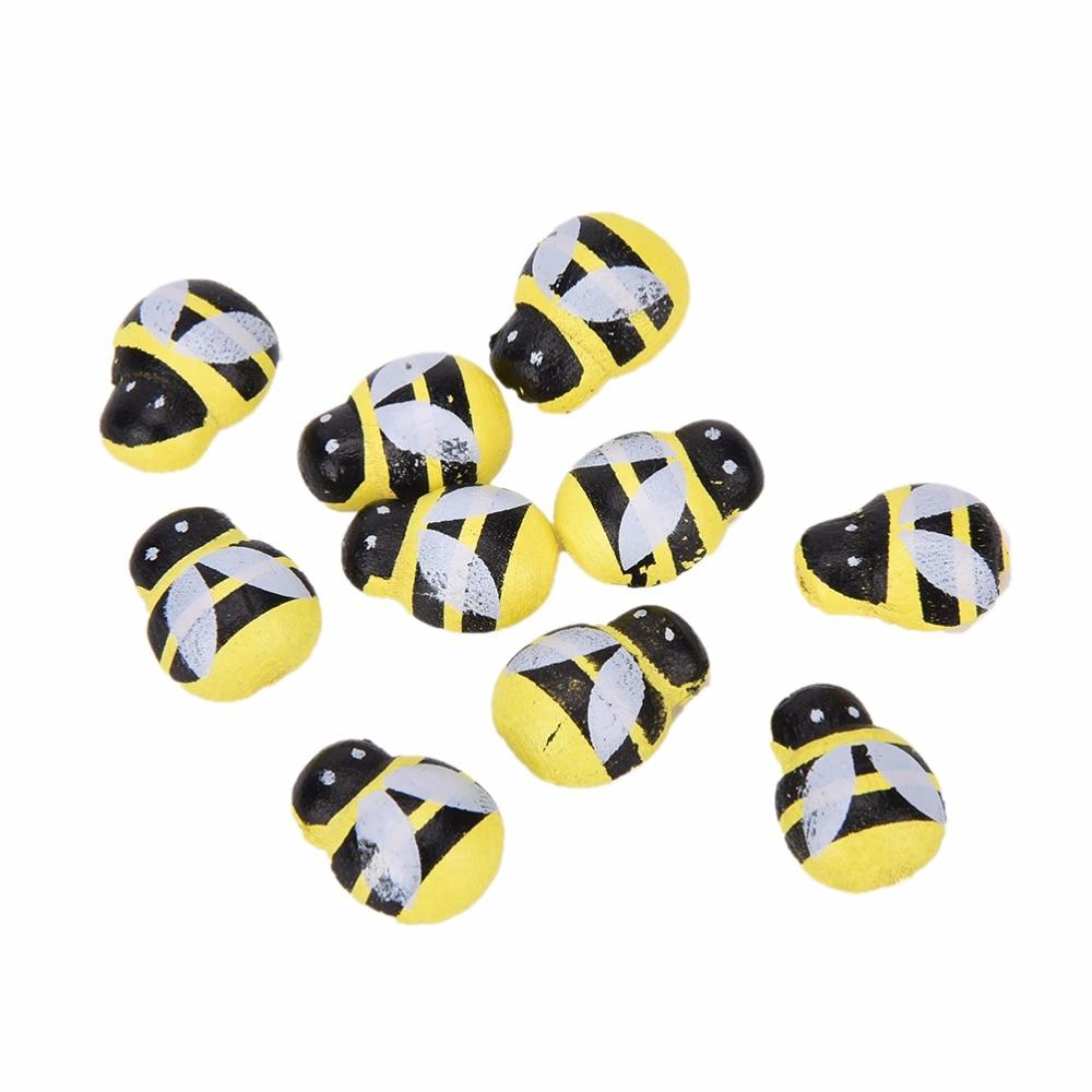 50 Stks Nieuwigheid Houten 3d Art Bee Dier Koelkast Stickers 13mm * 9mm Kawaii Grappige Magneten Voor Scrapbooking Speelgoed
