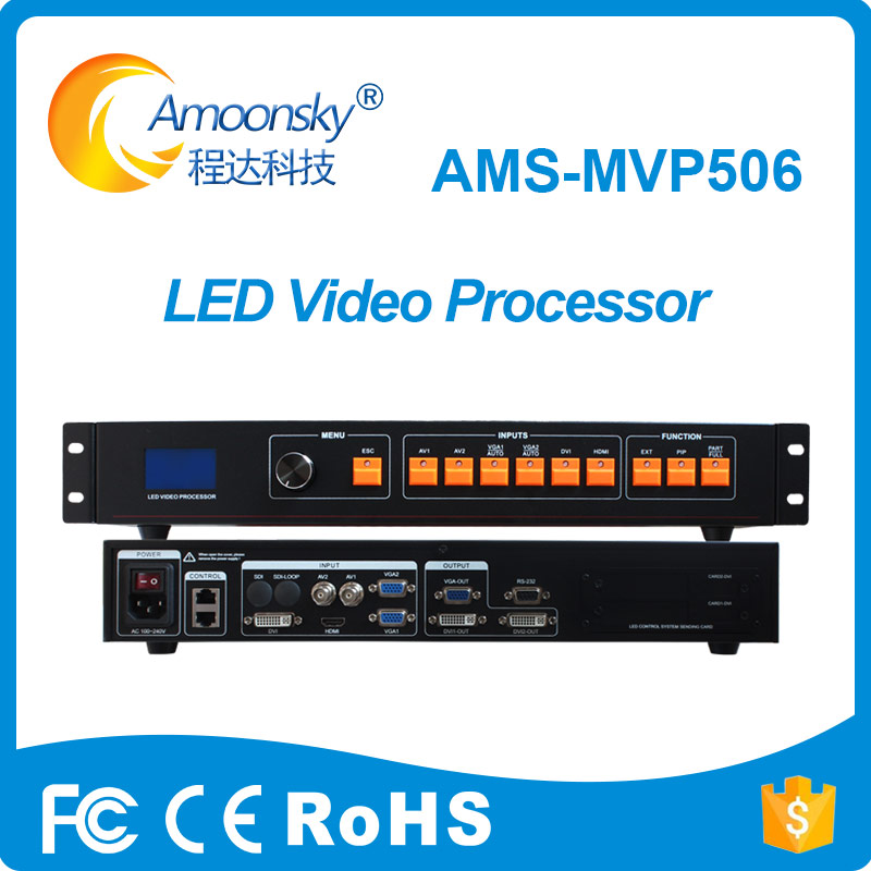Active Ams-mvp506 Led Video Processor Like Vdwall Support Colorlight S2 Send Card For Lcb300 Nova Mctrl600 Send Box For Led Screen Display Screen Audio & Video Replacement Parts
