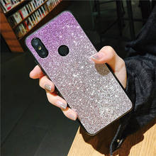 Gradient Bling Glitter Case For Huawei P20 Lite Pro Soft Silicone Cover For Honor 8 9 Lite 10 V10 V9 8C 7X 8X Y9 2019 Y6 2018(China)