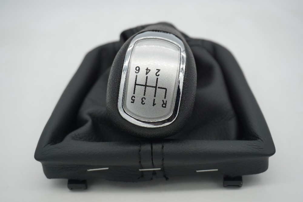 6 Speed Car Manual Gear Shift Knob With Boot Slivery Cap for Skoda Superb 3T MKII (08-12)  frame is gift