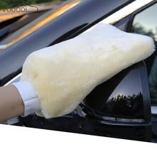 Automobile Car Wash Gloves Double-sided Faux Wool Fabric Thickened Plush Cleaning Waxing Mitt Auto Care Brush Cleaning Rag