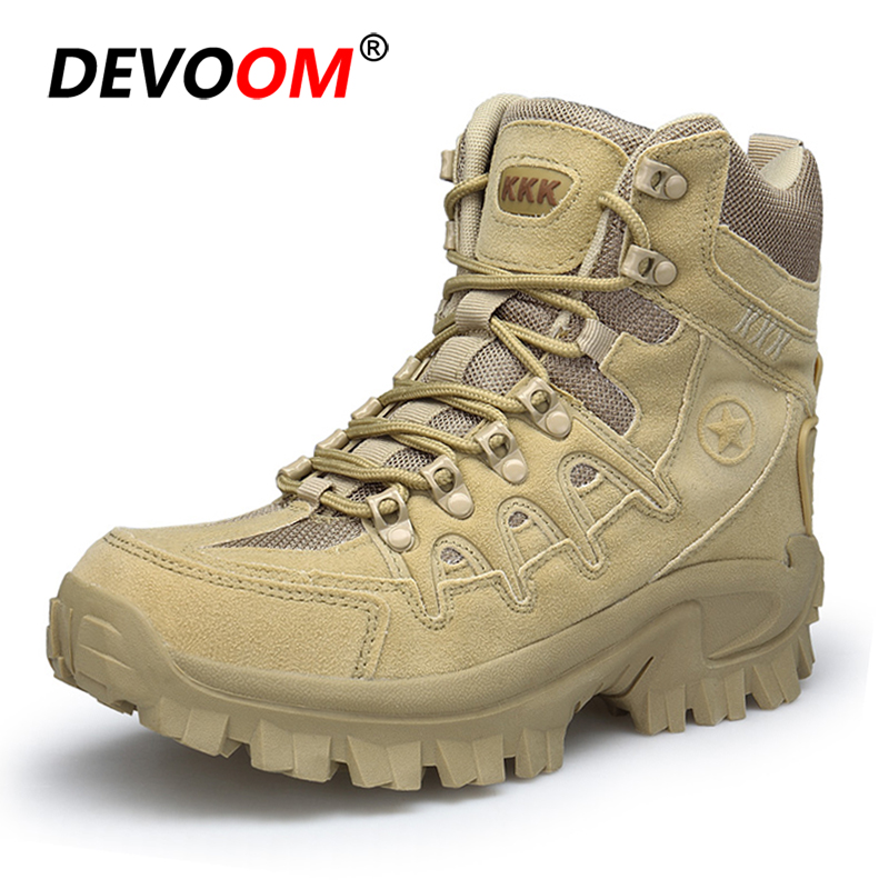 Winter Outdoor Man Hiking Shoes Soldier Army Boots Trekking Hiking Shoes Men Military Boots Desert Zapatos