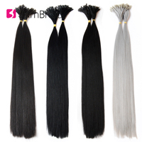 Sambraid 1g/pcs 22Inch Pre Bonded Hair Extensions 100pcs/Pack Machine Made Synthetic Braiding Hair Extensions For Women