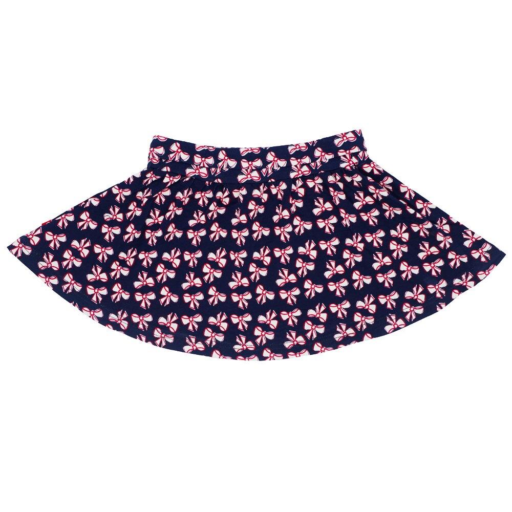 100% Baumwolle 1-5 Jahre Baby Mädchen Tutu Rock Bogenknoten Druck Kinder Mädchen Ballkleid Lässig Prinzessin Röcke Kinder Kleidung