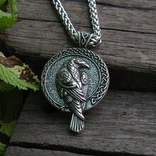 0c00704d44a2 Lanseis 10 piezas nórdico talismán viking Cuervo colgante pájaro negro celt  Cuervo collar hombres colgante de joyería
