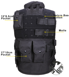 Image 3 - High Quality Tactical Vest Black Mens Military Hunting Vest Field Battle Airsoft Molle Waistcoat Combat Assault Plate Carrier