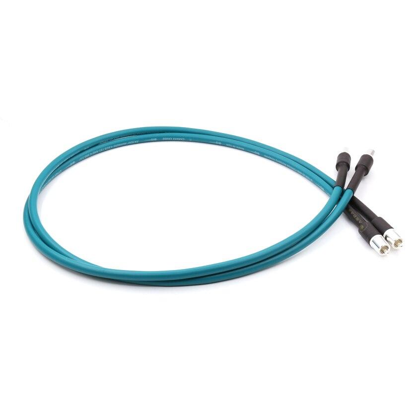 Paire Cardas croix Audio RCA câble d'interconnexion avec connecteur de prise RCA plaqué argent