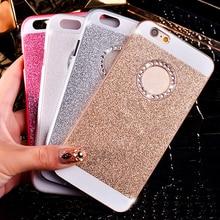 Sparkling Rhinestone Ring Hard PC Phone Cases Wonderful bling Covers For iPhone 4 4S 5 5S SE 6 6S 7 6Plus 6SPlus 7Plus C0038