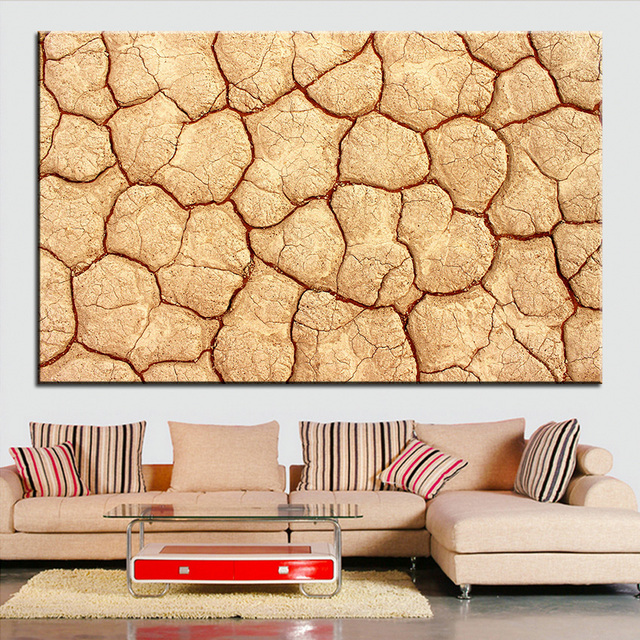 Large size Printing Oil Painting cracked earth Wall painting Decor ...