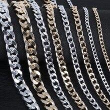 1-5 м/лот серебро/золото/алюминиевое покрытие ожерелье цепи латунь оптом для DIY ювелирных изделий материалы 4 размера для выбора