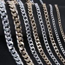 1-5 metro/lote rodio/ouro/alumínio banhado colar correntes bronze granel para fazer jóias dos materiais 4 tamanho para seleção