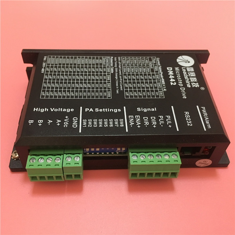 Leadshine DM442 two-phase Stepper stepping Motor Driver for CNC Router Kits driver fit nema17 to nema 23 leadshine am882 stepper drive stepping motor driver 80v 8 2a with sensorless detection