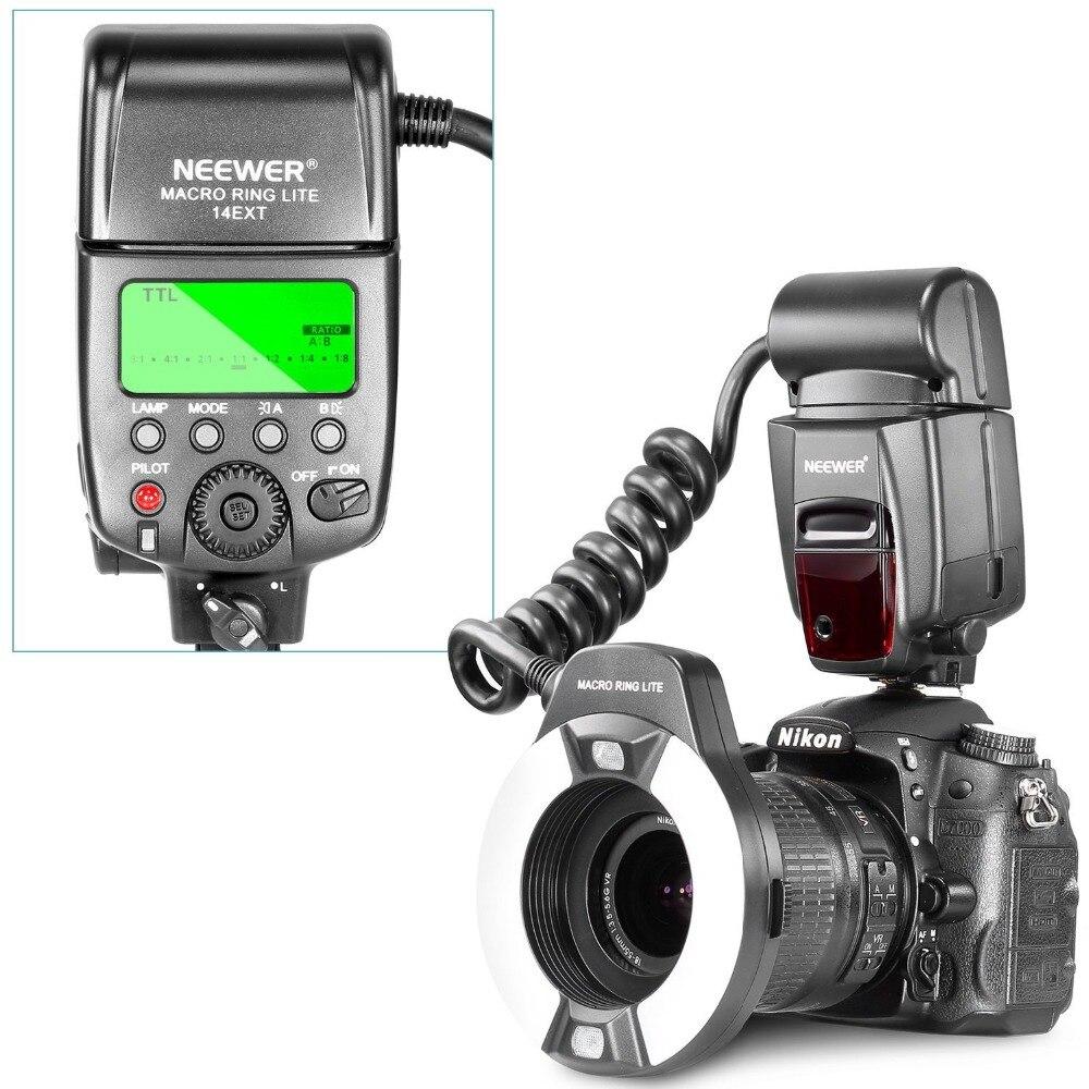 Neewer Macro TTL Ring Flash Light with AF Assist Lamp for Nikon D7000/D5000/D5100/D3200/D3100/D3000/D3 series/D800,D700/D2/D200 jy 670n ttl macro close up o ring light flash for nikon d5100 d3200 d3100 d800 d90 dslr camera