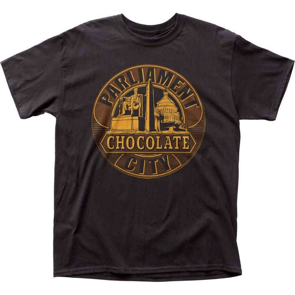 Gratis verzending 2018 Authentieke Parlement George Clinton Chocolade Stad Album T-shirt SML XL 2X Hiphop Tops Tees