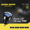 Steelmate TP-74P 4 Sensors Wireless DIY TPMS Tire Pressure Monitor System with LCD Display