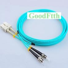 In fibra di Patch Cord Cavo di Ponticello SC ST ST SC OM3 Duplex GoodFtth 1 15m 6 pz/lotto